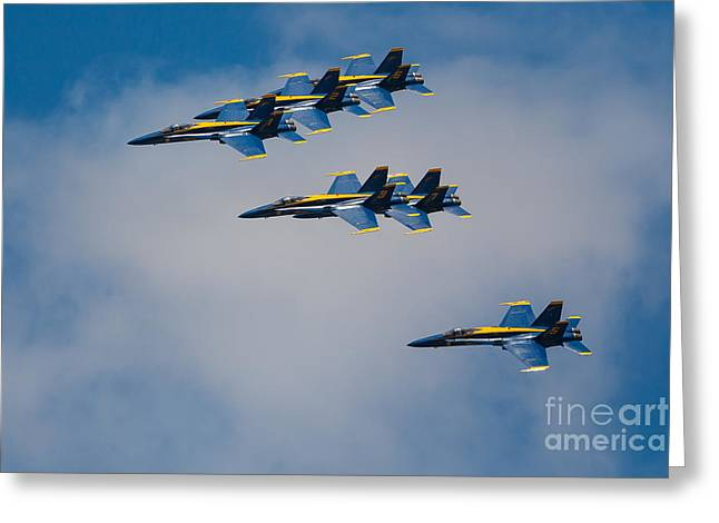 Airplane Greeting Cards - Blue Angels Greeting Card by Inge Johnsson