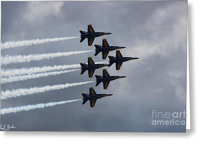 Dream Team Art Greeting Cards - Blue Angels Greeting Card by Michael Rucker