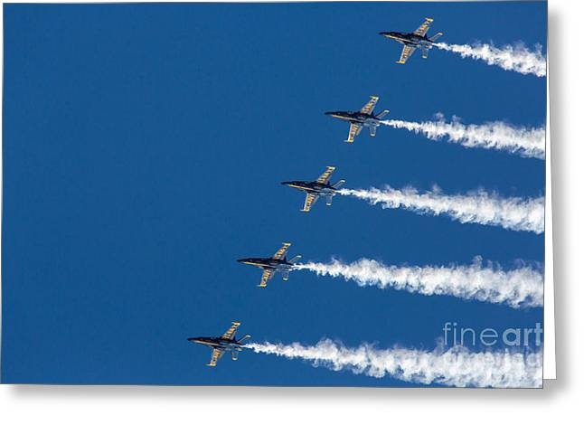 Angel Blues Greeting Cards - Blue Angels on Blue Greeting Card by John Daly