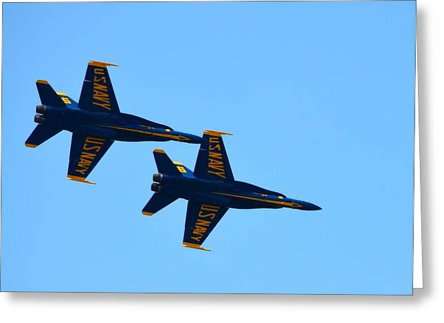 Military Airplanes Greeting Cards - Blue Angels  Greeting Card by Richard Bryce and Family
