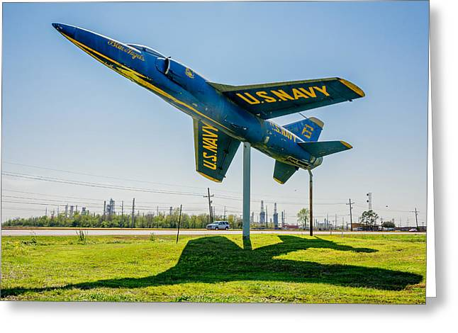 Weathered Paint Greeting Cards - Blue Angels Greeting Card by Steve Harrington