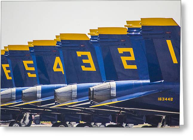 Angel Blues Greeting Cards - Blue Angels Wings Greeting Card by John McGraw