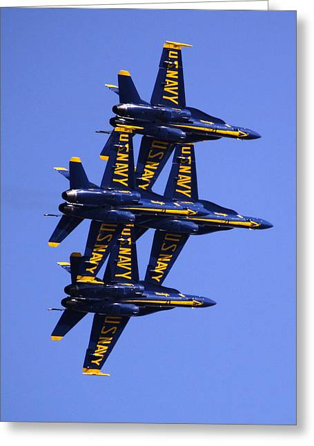 Fighters Greeting Cards - Blue Angels II Greeting Card by Bill Gallagher