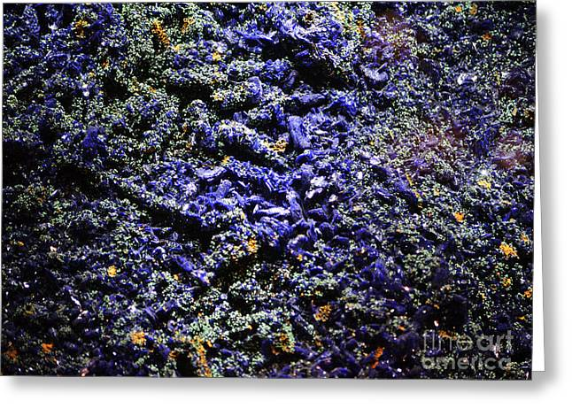 Beauty In Nature Greeting Cards - Blue Azurite Macro Greeting Card by Shawn O