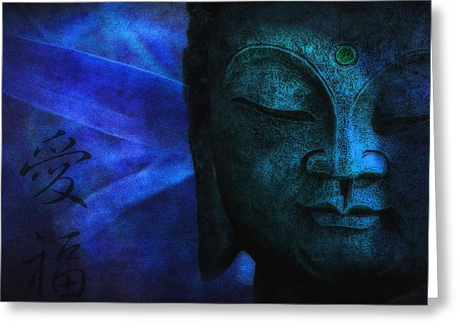 Recently Sold -  - Statue Portrait Greeting Cards - Blue Balance Greeting Card by Joachim G Pinkawa
