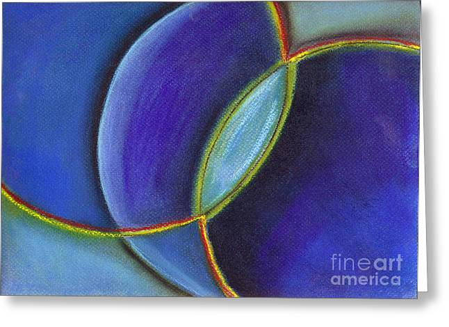Blue Greeting Card by Barbara Magyar