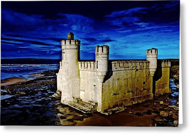 My Ocean Greeting Cards - Blue Bathhouse Greeting Card by Tony Reddington