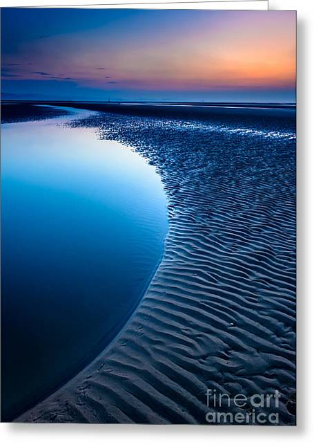 Beach Scenery Greeting Cards - Blue Beach  Greeting Card by Adrian Evans
