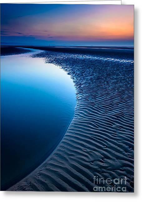 Blue Beach  Greeting Card by Adrian Evans