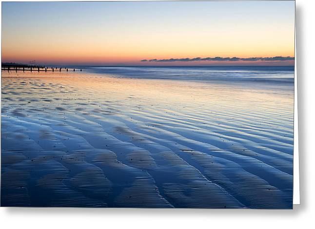 Shadow Effect Greeting Cards - Blue Beach Greeting Card by Matthew Gibson