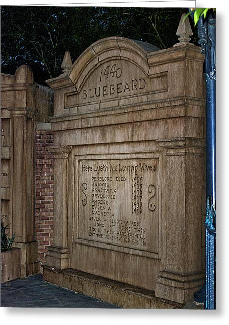 Town Square Greeting Cards - Blue Beards Tomb Walt Disney World Greeting Card by Thomas Woolworth