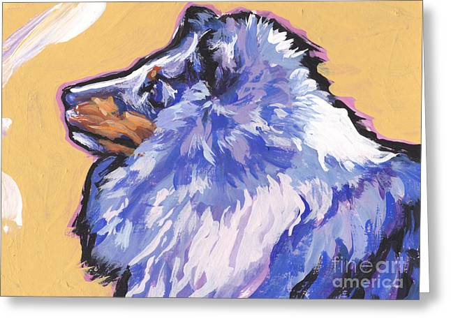 Shetland Dog Greeting Cards - Blue Beauty Greeting Card by Lea