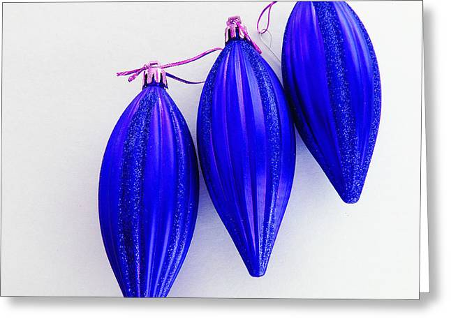 Star Of Bethlehem Greeting Cards - Blue Bells of Christmas Greeting Card by Tina M Wenger
