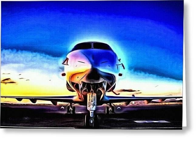 Airoplane Greeting Cards - Blue Bird Greeting Card by Art Diamond