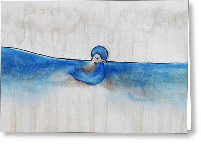 Carrie Glenn Greeting Cards - Blue Bird Of Happiness Greeting Card by Carrie Jackson