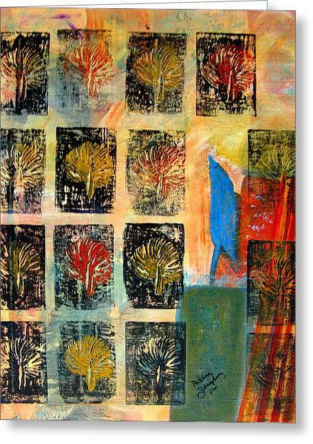 Patricia Januszkiewicz Greeting Cards - Blue Bird Greeting Card by Patricia Januszkiewicz