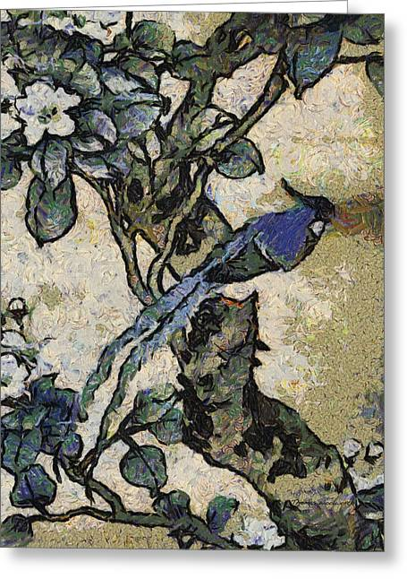 Bluebird Posters Greeting Cards - Blue Bird Photo Art Greeting Card by Thomas Woolworth