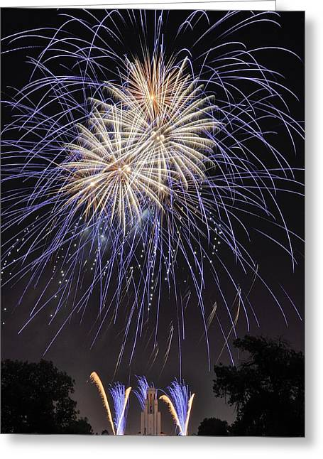 Bottle Rockets Greeting Cards - Blue Blast Greeting Card by Kevin Munro