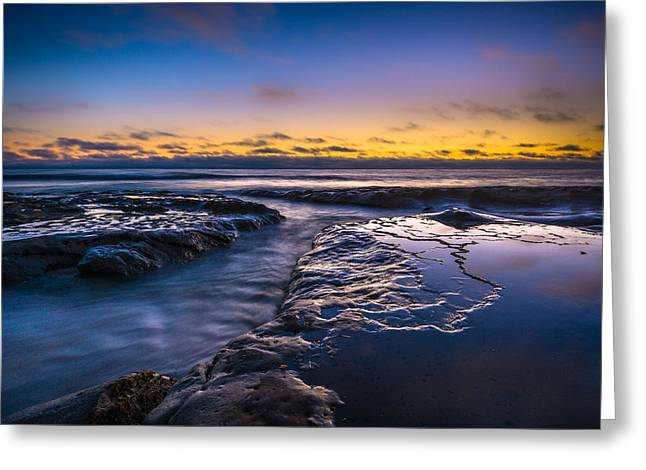 Photos Of The Ocean Greeting Cards - Blue Bliss Greeting Card by Alexander Kunz