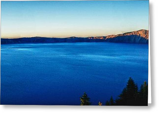 Crater Lake Twilight Greeting Cards - Blue Blue Blue Greeting Card by Rob Wilson