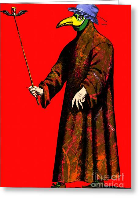 Plague Greeting Cards - Blue Bonnet Plague Doctor 20140306 Greeting Card by Wingsdomain Art and Photography