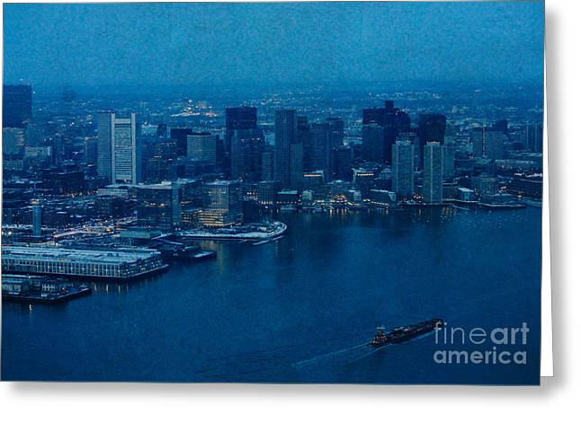 Blue Boston Greeting Card by Claudia M Photography
