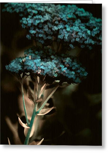 Digital Media Greeting Cards - Blue Bouquet Greeting Card by Bonnie Bruno
