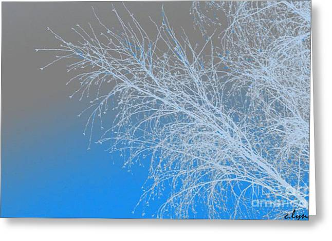 Blue Branches Greeting Card by Carol Lynch