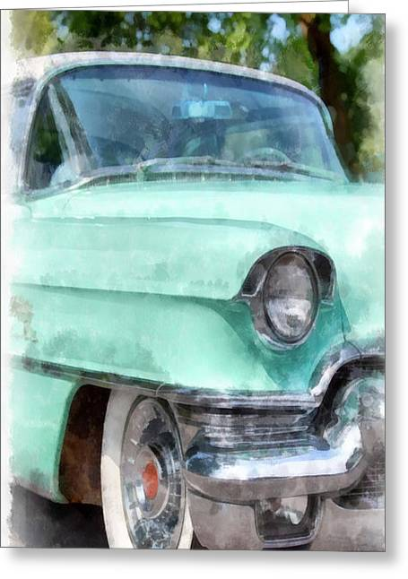Caddy Greeting Cards - Blue Caddy Phone Case Greeting Card by Edward Fielding