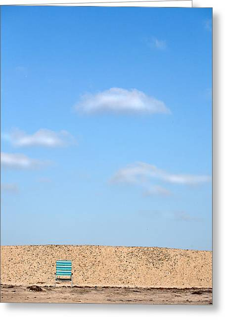 Locations Greeting Cards - Blue Chair Number 2 Greeting Card by Peter Tellone