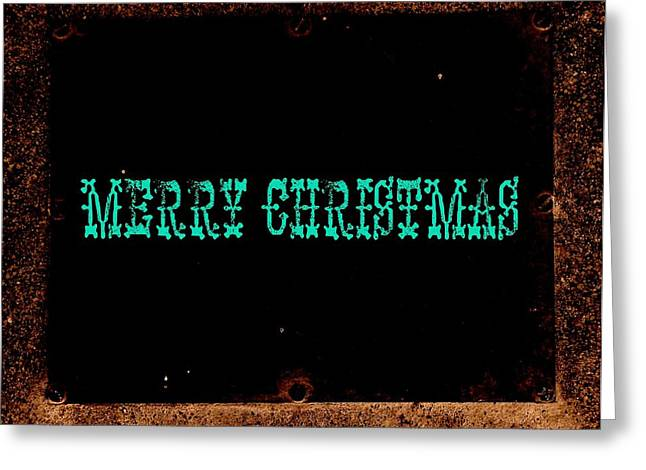 blue christmas Greeting Card by Chris Berry