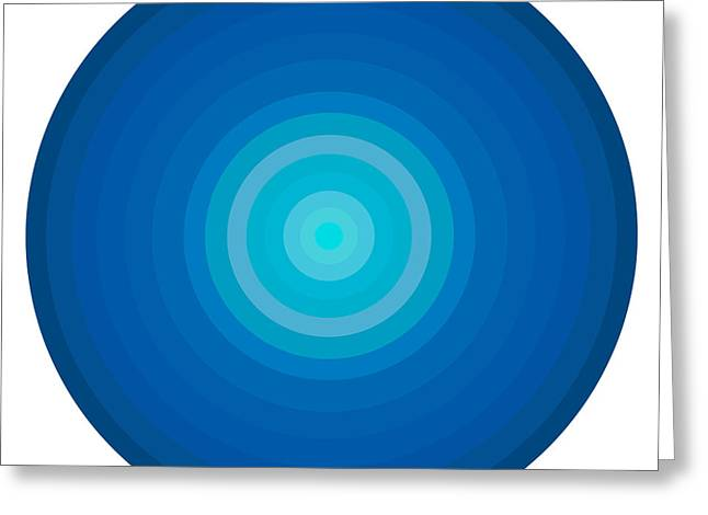 Graphics Paintings Greeting Cards - Blue Circles Greeting Card by Frank Tschakert