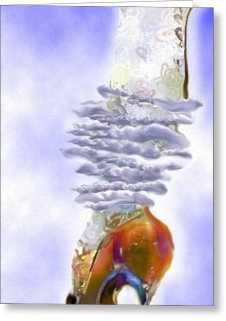 Blue Cloud Shoe Greeting Card by Carolyn Weltman