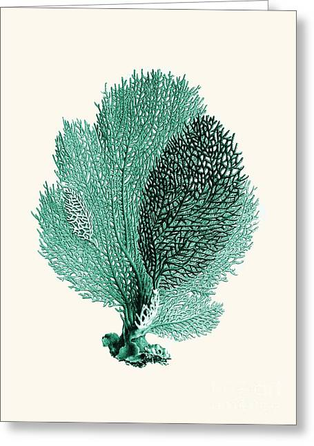 Alga Drawings Greeting Cards - Blue coral Greeting Card by Patruschka Hetterschij