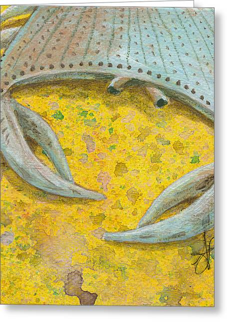 Blue Crab Greeting Card by Aprille Lipton