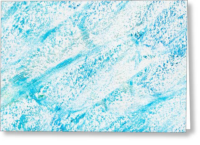 Design Drawings Greeting Cards - Blue crayon Greeting Card by Tom Gowanlock