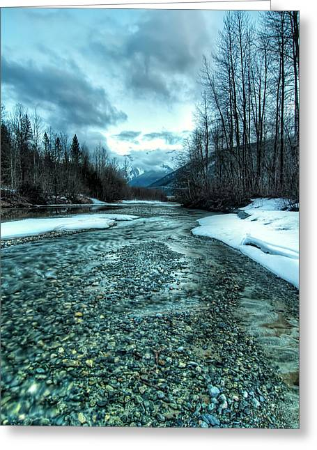 Beautiful Creek Greeting Cards - Blue Creek Greeting Card by James Wheeler