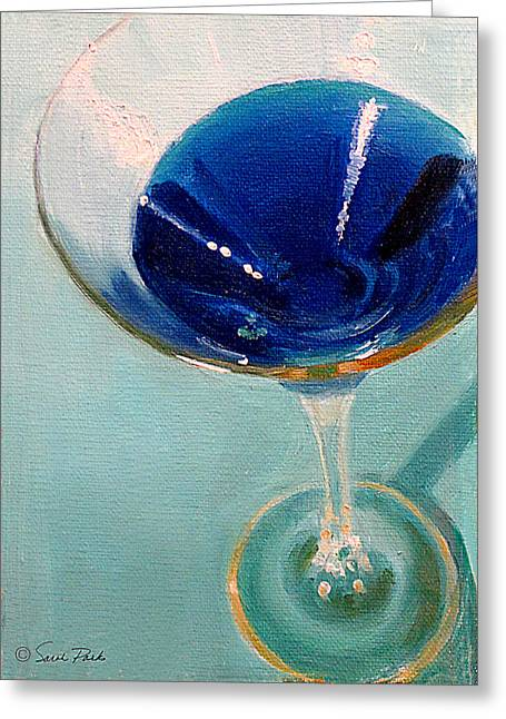 Blue Curacao Greeting Card by Sarah Parks