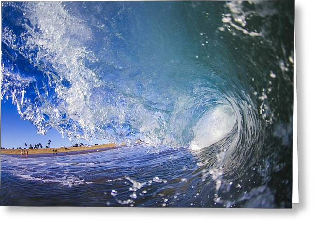 Surfing In Orange County Greeting Cards - Blue Cylinders Greeting Card by Kyle Morris