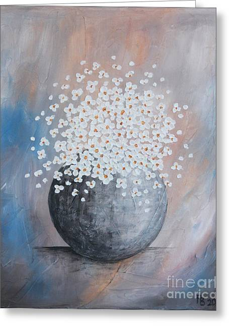 Home Art Greeting Cards - Blue daisies Greeting Card by Home Art