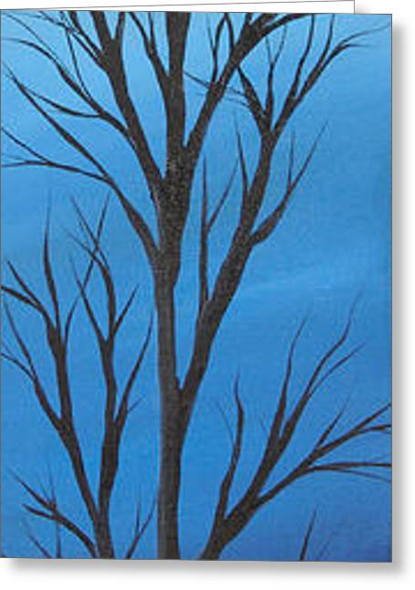 Landscape Posters Greeting Cards - Blue day Greeting Card by Roni Ruth Palmer