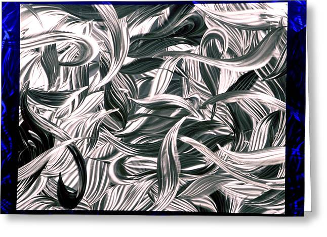 Contemporary Abstract Sculptures Greeting Cards - Blue Daydream Greeting Card by Rick Roth