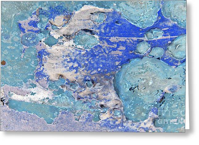 Best Seller Greeting Cards - Blue Dog Boo Abstract Greeting Card by Lee Craig