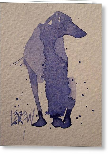 Working Dog Drawings Greeting Cards - Blue Dog Greeting Card by Larry Lerew