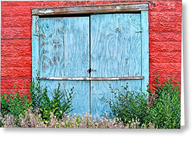 Metal Sheet Greeting Cards - Blue Door 2 Greeting Card by Andrew Chianese