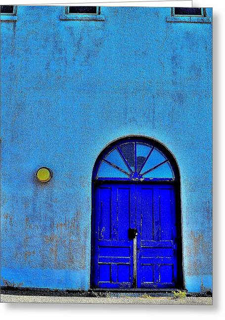 Stained Glass 3 Greeting Cards - Blue Door 3 D Zoom - Canada Greeting Card by Jeremy Hall