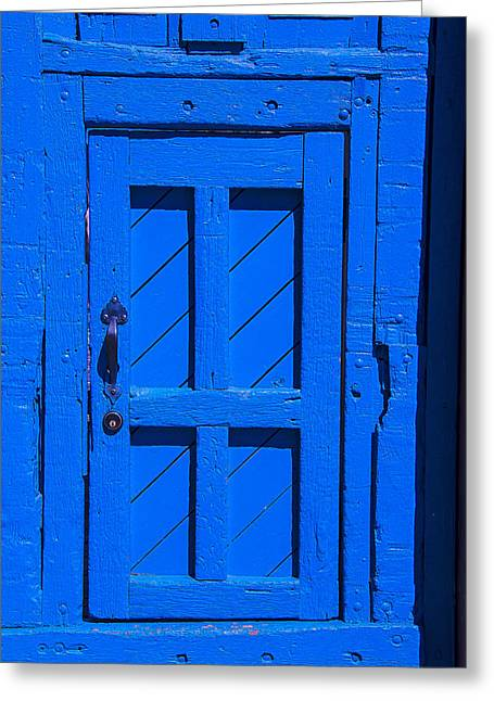Blue Door Greeting Card by Garry Gay
