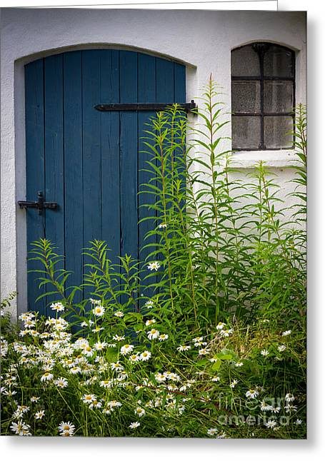 Europe Greeting Cards - Blue Door Greeting Card by Inge Johnsson