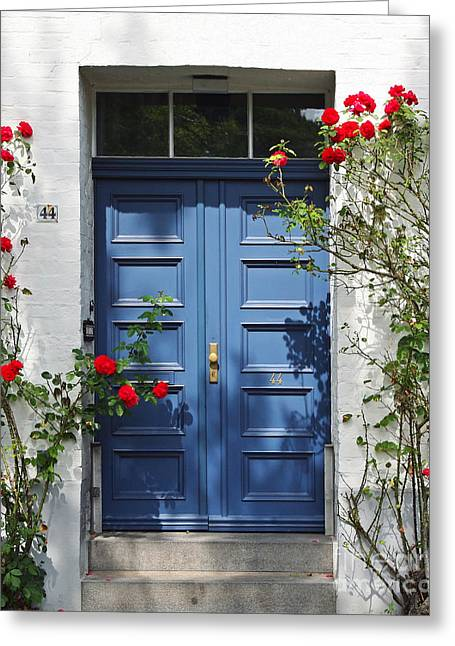 Kate Mckenna Greeting Cards - Blue Door Greeting Card by Kate McKenna