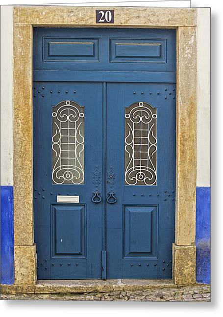 Entranceway Greeting Cards - Blue Door Twenty Greeting Card by David Letts
